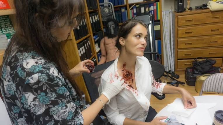 Now that's a hole! Makeup by Zoey Hendrix. Team Fallen Light Media
