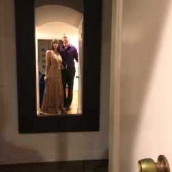 My amazing husband and I about to go partay and enjoy Medinah Red Carpet event at the Marina Courtyard behind the Manchester Grand Hyatt Hotel.