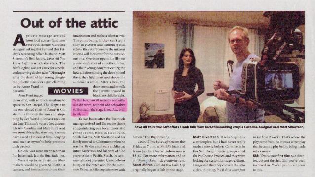 Interview between Matt Sivertson and Film Critic Scott Marks from San Diego Reader
