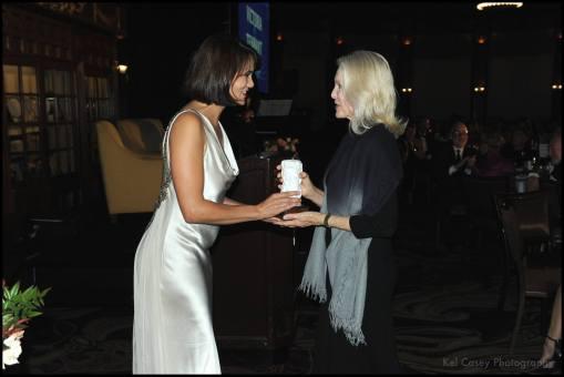 With Victoria Tennant. Photo courtesy of Kel Casey/Coronado Eagle-Journal.