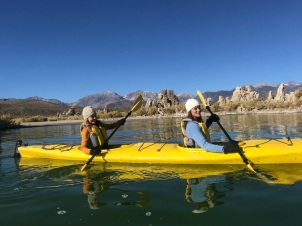 Manuela and I kayaking on Mono Lake with #BrandUSA #VisitTheUSA